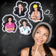 dream job stock photos images royalty dream job images and dream job career choice options student thinking of future education young asian w