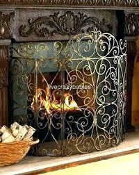 modern decorative fire screens uk fireplace fantastic stained glass fir