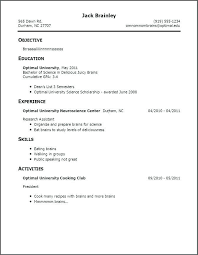 Resume For First Job Custom Simple Resume For First Job No Experience Fieltronet