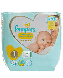 Pampers New Baby Size 1 Carry Pack 22 Nappies