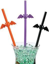 Fun Express <b>Halloween Bat</b> Themed Plastic Party Drinking Straws ...