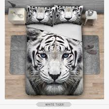 new hipster 3d print bedding set white tiger duvet cover home bed pertaining to plans 18