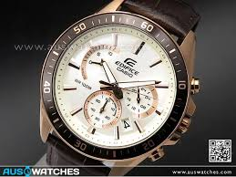 casio edifice rose gold genuine leather band mens watches efr 552gl 7av efr552gl watches casio aus watches