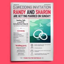 Wedding Invitation Newspaper Template You Searched For Newspaper Brochure Template Vector