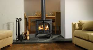 stovax stockton 8 double sided stove flat top in matt black burning logs