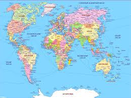 Карта мира Страны и континенты Карта планеты Земля Карта  Россия на карте мира Скачать бесплатно Где находятся государства Европы Азии Америки