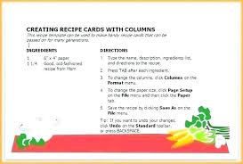 Recipe Paper Template Blank Recipe Card Template Word For Pages Free Mac