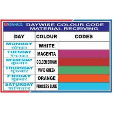 Day Wise Color Tags For Maruti Suzuki India Ltd Abl
