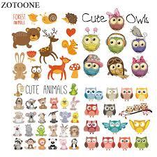 ZOTOONE <b>Cute</b> Animal Patches Set <b>Iron</b> on Transfers For Kids ...