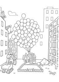 Small Picture Amazing Flying House in Disney Up Coloring Page NetArt