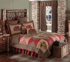 cabin patch quilt bedding ensemble