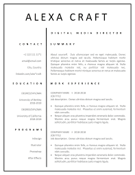 Resume Template For Word Mac Pages Minimalist Resume Modern