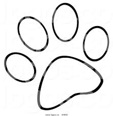 Small Picture paw print with cat coloring pages vector by attaphong image
