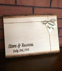 Rustic Wedding Guest Book Alternative Guest Log For
