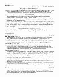 Computer Security Specialist Sample Resume Fresh Contract