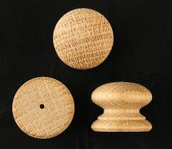 pack of 10 small drilled wood oak knobs handles 25mm drawer knob wooden a25ovkd