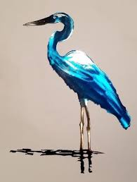 >amazon superior blue heron metal wall art 32 inches tall  superior blue heron metal wall art 32 inches tall
