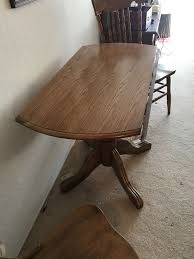 solid oak round kitchen dropleaf table with 0 6 chairs for in hercules ca offerup