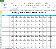 Bowling Spreadsheets Bowling Spreadsheet And Bowling Score Sheet Excel Template Excel Tmp