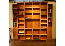 bookcase wall bed. Fine Bookcase BiFolding Bookcase Murphy Bed Hardwood Artisans  In Wall Bed
