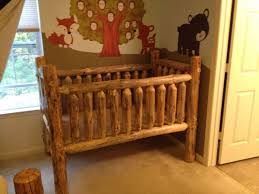 rustic crib furniture. Rustic Pine Log Crib Furniture C
