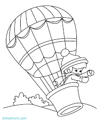Small Picture Hot Air Balloon Coloring Pages Coloring Home