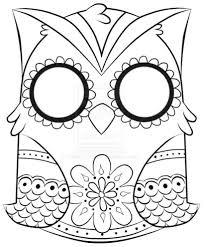 Girl Skull Coloring Pages Sugar skull printable coloring | Painted ...