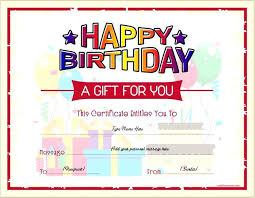 Free Printable Gift Certificate Template Word Word Gift Certificate Birthday Template Free Card For