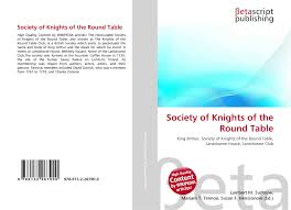bookcover of society of knights of the round table