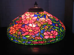tiffany lamp shade. Awesome Tiffany Lamp Shades Beautiful Large Flower Motif With Upside Shade