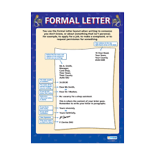 Formal Letter English English School Poster Formal Letter
