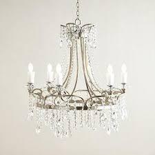 katia six ligth vintage silver crystal chandelier
