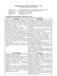 Plan Anual De Trabajo Juvenil 2012 2013