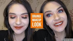 rainbow series orange makeup look