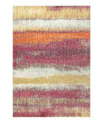 cream pink stripe contemporary pop rug