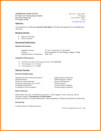 Resume Example Of Undergraduate Resume Ixiplay Free Resume Samples