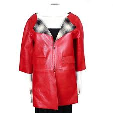 chanel 2016 red leather jacket wool interior blackwhite