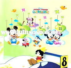 mickey mouse wall decals clubhouse art