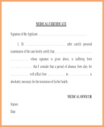 Medical Certificate For Sick Leave Magnificent Certificate Template Doctors 44 Free Sample Medical Fake Sick