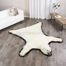 7 foot 1 inch 215cm polar bear rug 14001