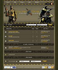 counter strike source theme cs website template category games of website templates