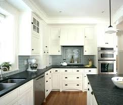 What Color Backsplash With White Cabinets Best White Cabinets Dark Countertops Jaakko