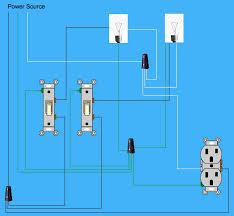 continuing power through two light switches doityourself com Wiring Diagram For Two Lights And One Switch continuing power through two light switches wiring diagram for two lights one switch