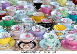 Tea Cup Display Stand Beauteous Cup And Saucer Display Display Collection Vintage Tea Cups And