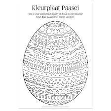 Kleurplaat Paasei Post Papier