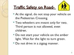 traffic rules 3 4 traffic safety on road 