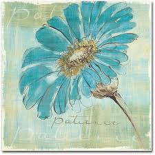 spa daisies ii by chris paschke painting print on wrapped canvas
