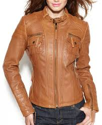 women s motorcycle buckle collar quilted leather jacket