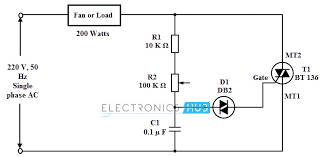 simple fan regulator circuit electronic fan regulator circuit diagram