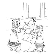 Small Picture 50 Beautiful Frozen Coloring Pages For Your Little Princess Olaf